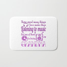 Listening To Music Grandma Bath Mat