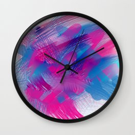 Paint strokes Wall Clock
