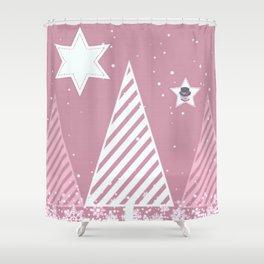 Stars forest Shower Curtain