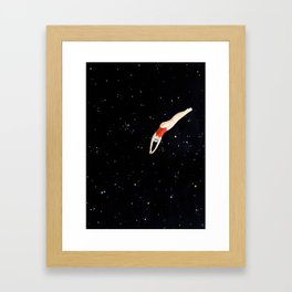 Dive into the Universe Framed Art Print