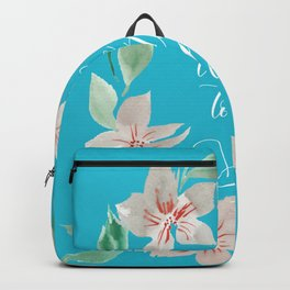 Take Me to the Sea - Turquoise Backpack