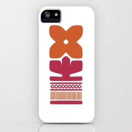 Nordic Orange Flower iPhone Case