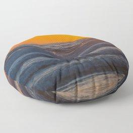 sunset waves Floor Pillow