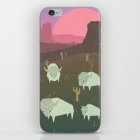 bison iPhone & iPod Skins featuring Bison by N1MH