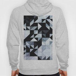 Abstract Black and White Geometry Hoody