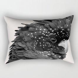Black Billie Rectangular Pillow