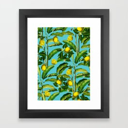 Lemon and Leaf II Framed Art Print