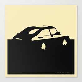 Saab 900 classic, Black on Cream Canvas Print