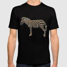 Chevron Zebra MEDIUM Mens Fitted Tee Black