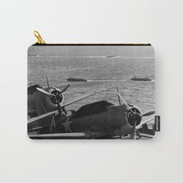 USS Enterprise Preparing For Guadalcanal Invasion - 1942 Carry-All Pouch