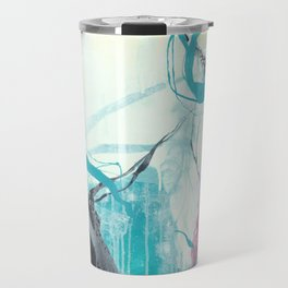 Ice Wind - Square Abstract Expressionism Travel Mug