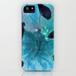 Watercolor Teal Mirage iPhone Case