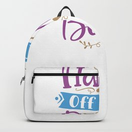 Baby Shower Pregnant Newborn Hands Off the Bump Backpack