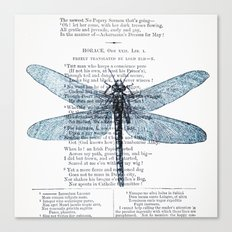Dragonfly Poet Canvas Print