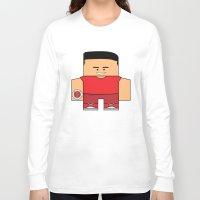 power rangers Long Sleeve T-shirts featuring Mighty Morphin Power Rangers - Jason (The Original Red Ranger) by Choo Koon Designs