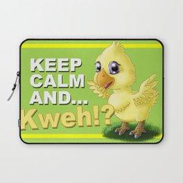 Keep calm and ...Kweh!? Laptop Sleeve
