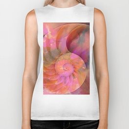 Colorful Nautilus Shell By Sharon Cummings Biker Tank