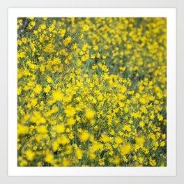 Beautiful shiny yellow Art Print