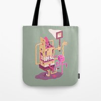 spongebob Tote Bags featuring Spongebob by Mike Wrobel