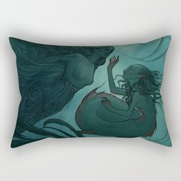 The day a mermaid found a shipwreck Rectangular Pillow