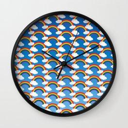 Rainbow Doodle Wall Clock