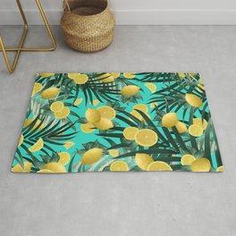 Summer Lemon Twist Jungle #1 #tropical #decor #art #society6 Rug