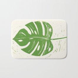 Linocut Leaf Bath Mat