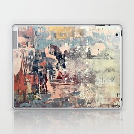 Mirage [1]: a vibrant abstract piece in pinks blues and gold by Alyssa Hamilton Art Laptop & iPad Skin