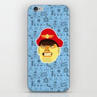 street fighter iPhone & iPod Skins featuring Bison - Street Fighter by Kuki