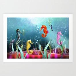 Sea Horse Ranch Art Print