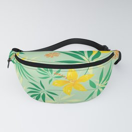 Floral green pattern  Fanny Pack