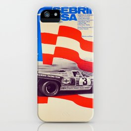 Vintage USA Racing Poster iPhone Case