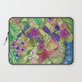 Stained Glass Garden Too Laptop Sleeve