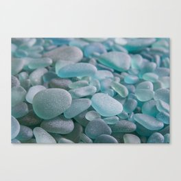 Japanese Sea Glass - Low Tide Blues III Canvas Print