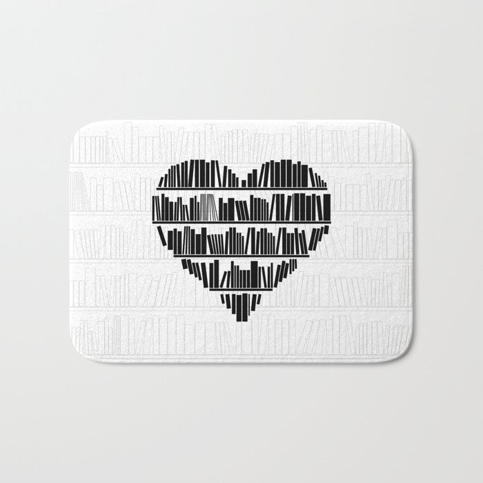 Book Lover II Bath Mat