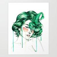 """scorpio Art Prints featuring """"Scorpio"""" by Mia Desu"""
