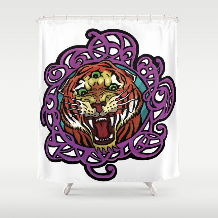 Third Eye Tiger Shower Curtain