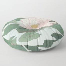 Water Lily Japanese print Floor Pillow
