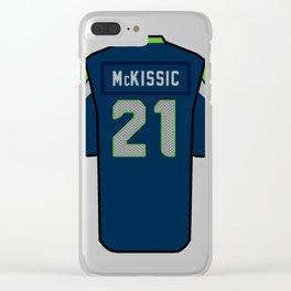 J.D. McKissic Jersey Clear iPhone Case