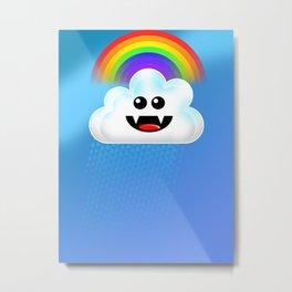 RAINBOW CLOUD! Metal Print