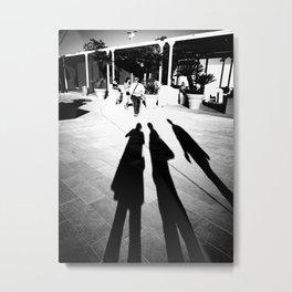 Venetian Shadows Noir Metal Print