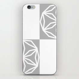 CUBIC FLOWER SIMMETRY - gray iPhone Skin
