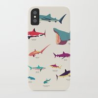 sharks iPhone & iPod Cases featuring Sharks by Simon Alenius