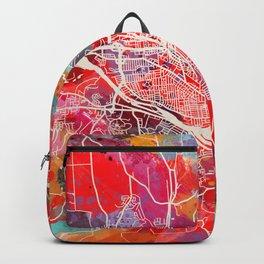Binghamton map New York NY 2 Backpack