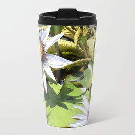Flowers in the Lily Pond Travel Mug