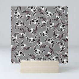 Shynx Half Skull Pattern Mini Art Print