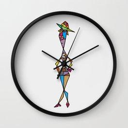Madam fisherman Wall Clock