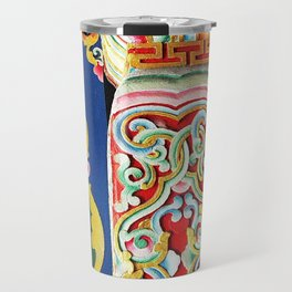 Tibetan Buddhist Monastery Architectural Details Travel Mug