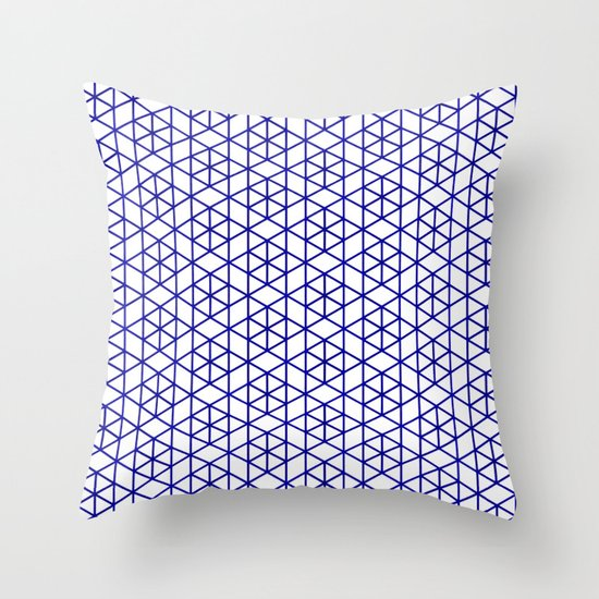 Karthuizer Blue & White Pattern Throw Pillow