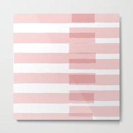 Big Stripes in Pink Metal Print